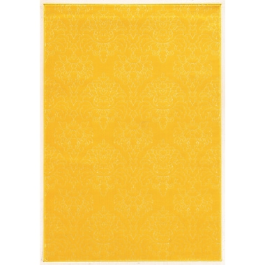 Linon Rugs Prisma Chloe Yellow Rug; 5' x 7'