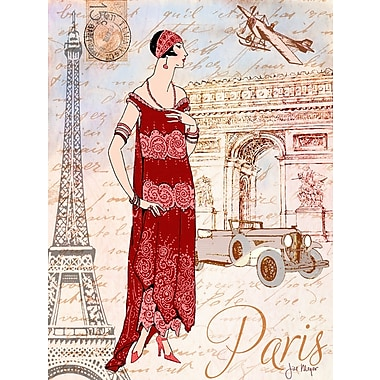 'Paris Diva Around the World Fashion Female' by Jill Meyer Graphic Art on Wrapped Canvas