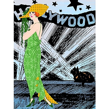 'Hollywood Diva Around the World Fashion Female' by Jill Meyer Graphic Art on Wrapped Canvas