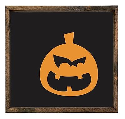 Forest Creations Pumpkin Halloween Framed Graphic Art on Canvas