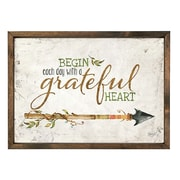 Forest Creations 'Begin Each Day w/ a Grateful Heart' Wall Art