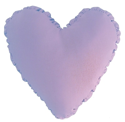 R&MIndustries Shirred Heart Cotton Throw Pillow; Lilac