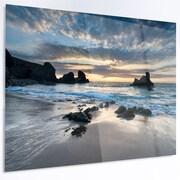 DesignArt 'Beautiful Porthcothan Bay' Photographic Print on Metal; 12'' H x 28'' W x 1'' D