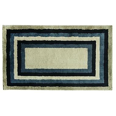 Bacova Guild Cashlon Concentric Tones Blue/Gray Area Rug; 2'4'' x 4'2''