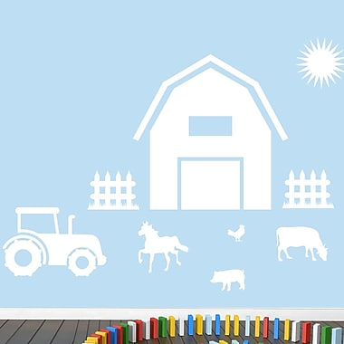 SweetumsWallDecals Farm Wall Decal; White