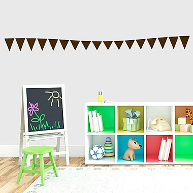 SweetumsWallDecals Flag Banner Wall Decal; Brown