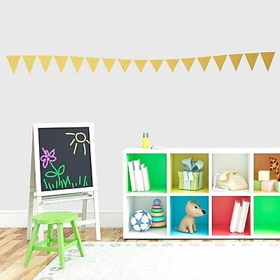 SweetumsWallDecals Flag Banner Wall Decal; Gold