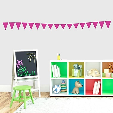 SweetumsWallDecals Flag Banner Wall Decal; Hot Pink
