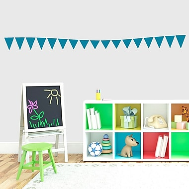 SweetumsWallDecals Flag Banner Wall Decal; Teal