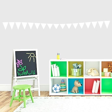 SweetumsWallDecals Flag Banner Wall Decal; White