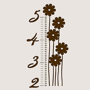 SweetumsWallDecals Flower Growth Chart Wall Decal; Brown