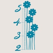 SweetumsWallDecals Flower Growth Chart Wall Decal; Teal