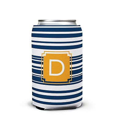 Dabney Lee Block Island Single Initial Can Beverage Sleeve; D