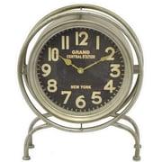 Three Hands Co. Retro Metal Table Clock