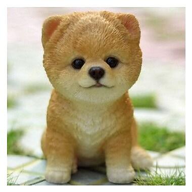Hi-Line Gift Ltd. Sitting Pomeranian Puppy Statue