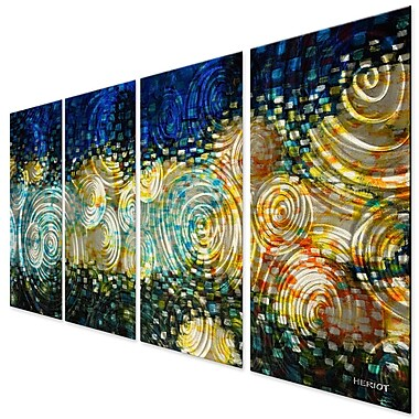 All My Walls Sun Waves by Steve Heriot 4 Piece Painting Set