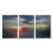 All My Walls Evening by Carol Schiff 3 Piece Painting Set