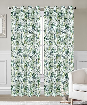 Urbanest Fauna Curtain Panels (Set of 2); 54'' W x 63'' L