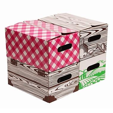 Victorio 4 Piece Corrugated Cardboard Quart Jar Storage Box Set