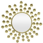 Three Hands Co. Metal Jeweled Wall Mirror; Gold