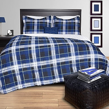 Mysa Plaid Bed in a Bag Set; Queen