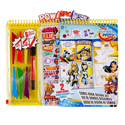 Fashion Angels DC Super Hero Girls Comic Book Design Set