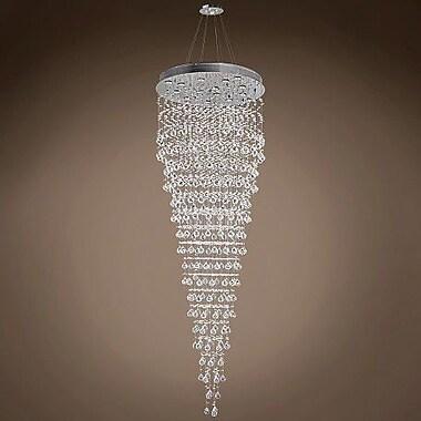 WeGotLites Drops of Rain 16-Light Crystal Pendant; Clear Asfour