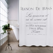 Park B Smith Ltd Metro Farmhouse Maison De Bains Cotton Shower Curtain