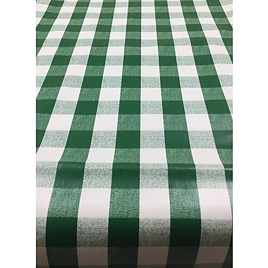 Ottomanson Essential Checkered Design Indoor/Outdoor Tablecloth; 102'' W x 55'' L