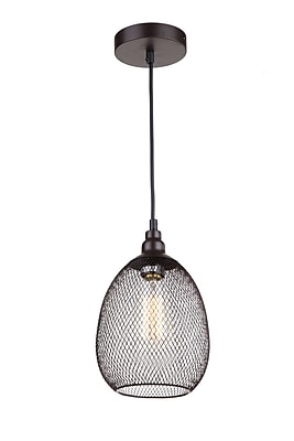 Whitfield Lighting Alec 1-Light Mini Pendant; Ebony Bronze