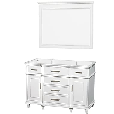 Wyndham Collection Berkeley 47'' Single Bathroom Vanity Base; White