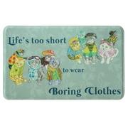 Bacova Guild Standsoft Memory Foam Boring Clothes Cat Celadon Mat