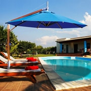 Bambrella 10' Side Wind Sirocco Cantilever Umbrella; Blue
