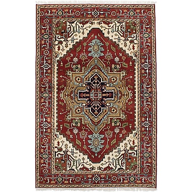 ECARPETGALLERY Serapi Heritage Wool Hand-Knotted Dark Copper Area Rug