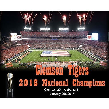 Frames By Mail 'Clemson Tigers 2016 CFA National Champions' Memorabilia on Wrapped Canvas