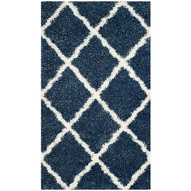 Gracie Oaks Macungie Blue / Ivory Indoor Area Rug; 8'6'' x 12'