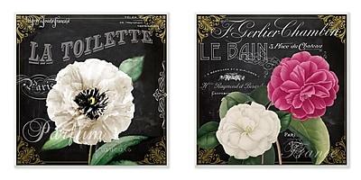 Stupell Industries La Toilette Carnations Parisienne 2 Piece Graphic Wall Plaque Set