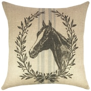 TheWatsonShop Horse Grain Sack Burlap Throw Pillow