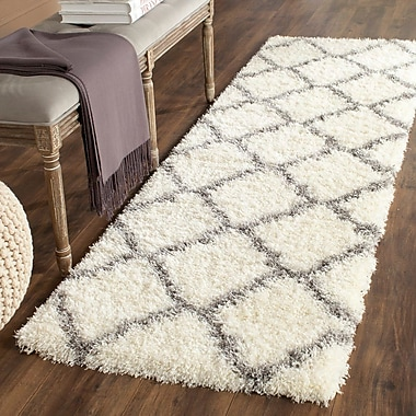 Gracie Oaks Macungie Gray Indoor Area Rug; Runner 2'3'' x 7'