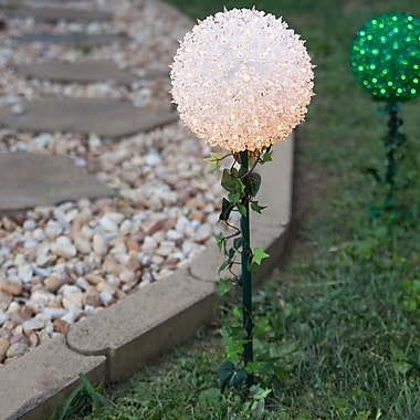 Wintergreen Lighting Twinkle Starlight Sphere Light on Stake