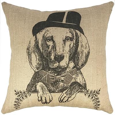 TheWatsonShop Dog Burlap Throw Pillow