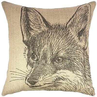 TheWatsonShop Fox Burlap Throw Pillow
