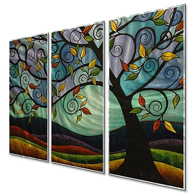 All My Walls The Wind by Peggy Davis 3 Piece Painting Set