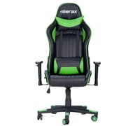 Merax Racing High-Back Executive Chair w/ Adjustable Armrest; Green