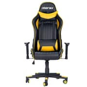 Merax Racing High-Back Executive Chair w/ Adjustable Armrest; Yellow
