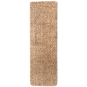 Ottomanson Soft Solid Non Slip Shag Carpet Camel Stair Tread; Set of 14