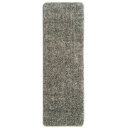 Ottomanson Soft Solid Non Slip Shag Carpet Gray Stair Tread; Set of 14