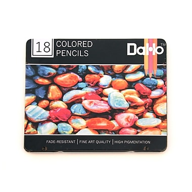 DaHo Colorful Rocks Premium Colored Pencils (Set of 18)