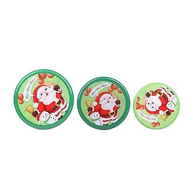 DaHo Christmas Santa 3 Piece Nested Gift Storage Jar
