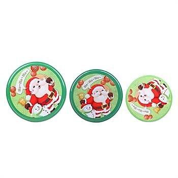 DaHo Christmas Santa 3 Piece Nested Gift Storage Jar